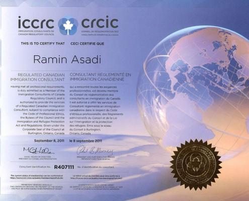 شورای تنظیم مقررات مشاوران مهاجرت کانادا (ICCRC)