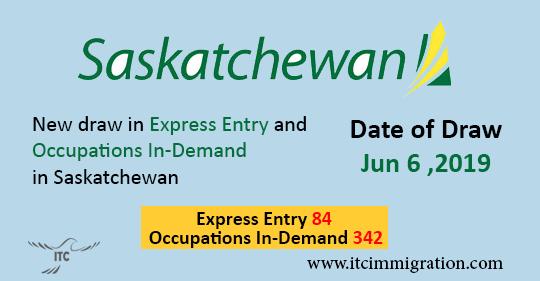 Saskatchewan Express Entry 6 June 2019 - Immigration to Canada