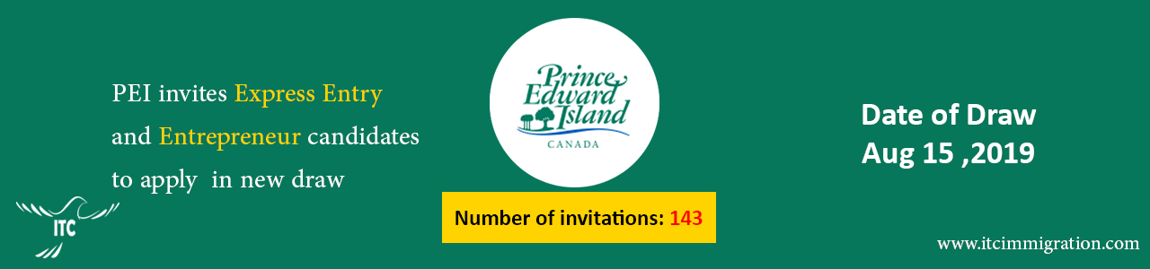 Prince Edward Island Aug 15 draw issues new invitations immigrate to Canada