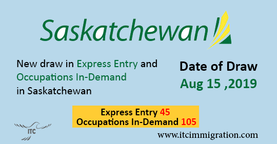 Saskatchewan Express Entry 15 Aug 2019 immigrate to Canada