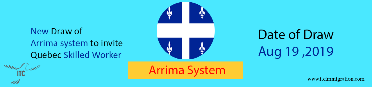 New Draw Quebec Arrima 19 Aug 2019 immigrate to canada
