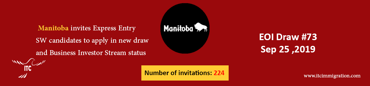 Manitoba Express Entry 25 Sep 2019 immigrate to Canada