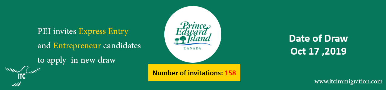 Prince Edward Island Oct 17 draw immigrate to Canada