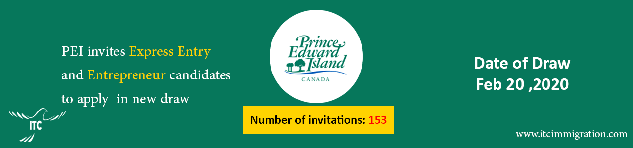 Prince Edward Island EOI draw Feb-20-2020 immigrate to Canada Business Impact Category