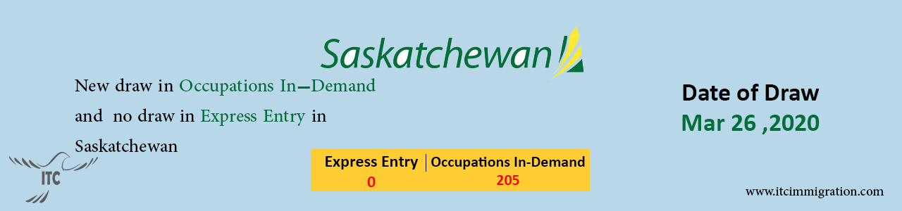 Occupations In-Demand Saskatchewan 26 Mar 2020 immigrate to Canada Express Entry