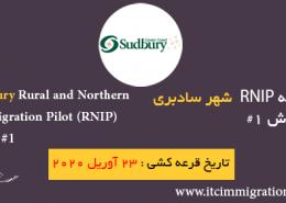 برنامه RNIP شهر سادبری پذیرش 1 مورخ 23 آوریل 2019 مهاجرت به شهرهای کوچک و شمالی کانادا مهاجرت به کانادا
