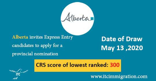 Alberta Express Entry 13 May 2020 immigrate to Canada AINP