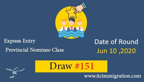 Express Entry Provincial Nominee Draw 151 immigrate to Canada