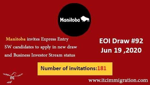 Manitoba Express Entry & Business Investor Stream 19 Jun 2020 immigrate to Canada Manitoba Business Investor Stream