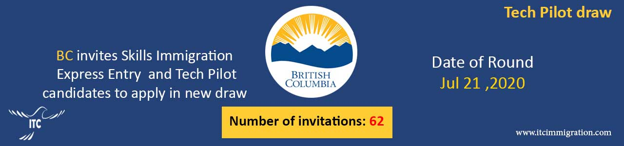Express Entry British Columbia 21 Jul 2020 immigrate to Canada Tech Pilot draw