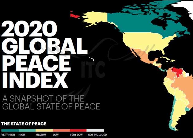 رتبهبندی شاخص جهانی صلح 2020 کانادا در رتبه 6 جدول مهاجرت به کانادا