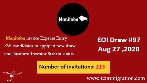 Manitoba Express Entry & Business Investor Stream 27 Aug 2020 immigrate to canada
