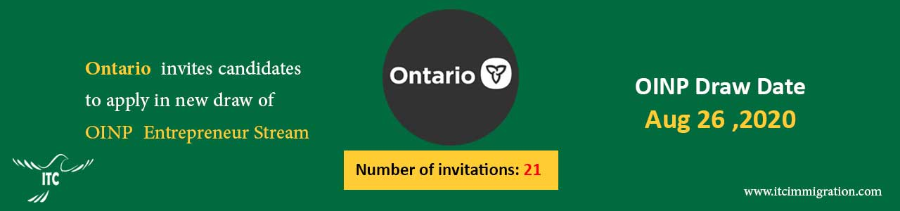 Ontarion Entrepreneur Stream 26 Aug 2020 immigrate to Canada