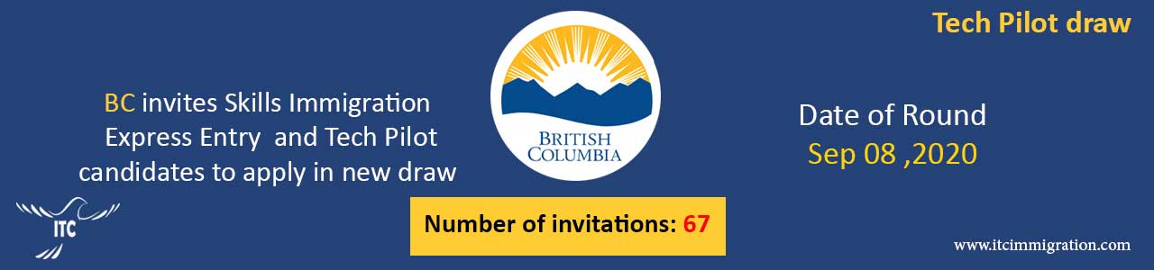 Express Entry British Columbia 8 Sep 2020 Tech Pilot draw Immigrate to Canada
