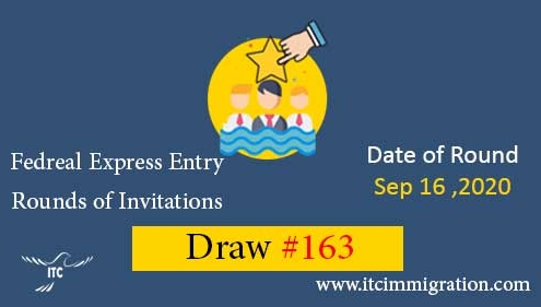 Federal Express Entry Draw 163 immigrate to Canada federal skilled worker