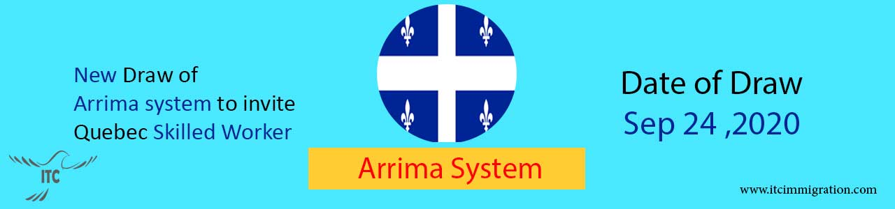 New Draw Quebec Arrima 24 Sep 2020 immigrate to Canada immigrate to Quebec