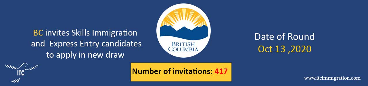 Express Entry British Columbia 13 Oct 2020 immigrate to Canada
