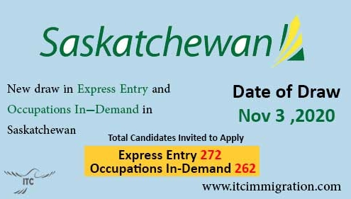Saskatchewan Express Entry 3 Nov 2020 immigrate to Canada Saskatchewan Occupation In-Demand 3 Nov 2020