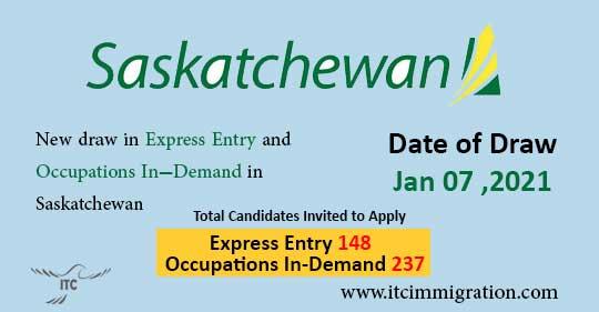 Saskatchewan Express Entry 7 Jan 2021