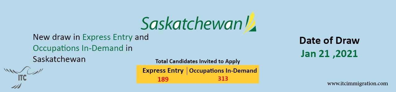 Saskatchewan Express Entry 21 Jan 2021