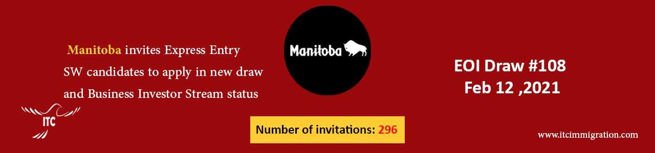 Manitoba Express Entry & Business Investor Stream 12 Feb 2021