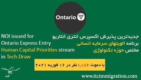 برنامه الویتهای سرمایه انسانی انتاریو 16 فوریه 2021 مختص حوزه تکنولوژی