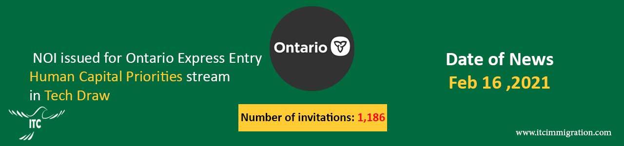 Ontario Human Capital Priorities 16 Feb 2021 Tech Draw