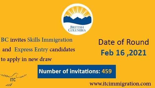 Express Entry British Columbia 16 Feb 2021