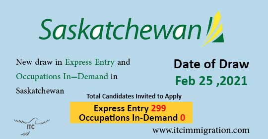 Saskatchewan Express Entry 25 Feb 2021