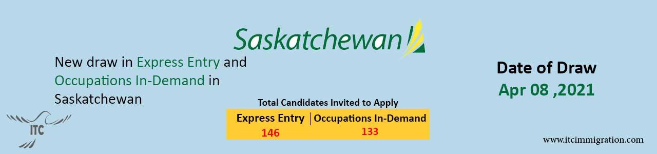 Saskatchewan Express Entry 8 Apr 2021