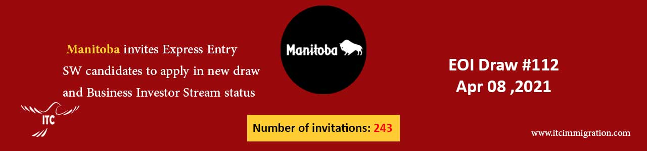 Manitoba Express Entry & Business Investor Stream 8 Apr 2021