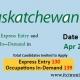 Saskatchewan Express Entry 22 Apr 2021