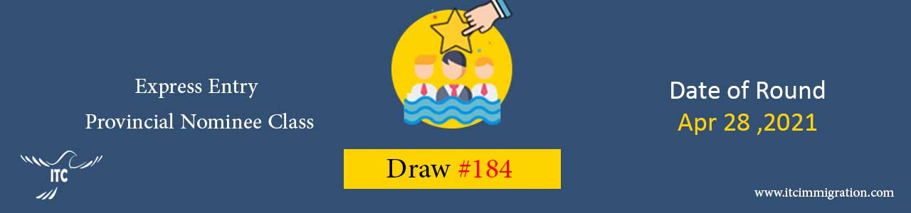 Express Entry Provincial Nominee Draw 184