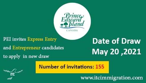 Prince Edward Island EOI draw 20-May-2021
