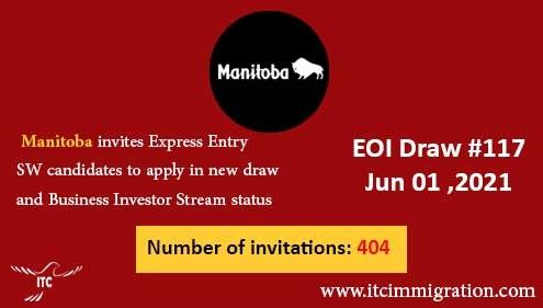 Manitoba Express Entry & Business Investor Stream 1 Jun 2021