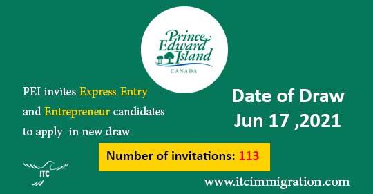 Prince Edward Island EOI draw 17 Jun 2021