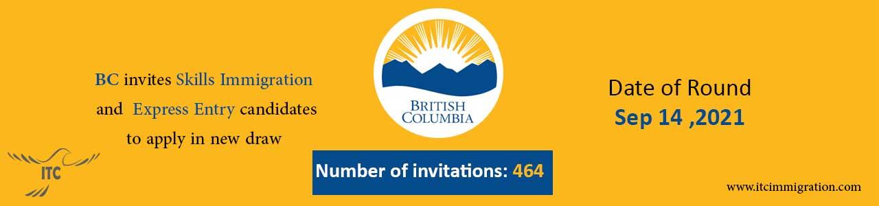 Express Entry British Columbia 14 Sep 2021